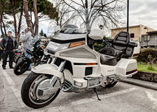 Honda goldwing le cylindre 1500 6 Images libres de droits