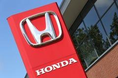 Honda-het handel drijventeken voor de toonzaal Royalty-vrije Stock Afbeeldingen