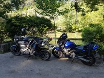 Honda hornet 600 and Yamaha MT-01 royalty free stock photography
