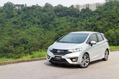 Honda Jazz Fit 2014 Royalty Free Stock Photography