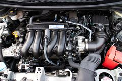 Honda Jazz Fit motor 2014 Arkivbild