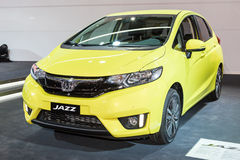 2015 Honda Jazz. Geneva, Switzerland - March 4, 2015: 2015 Honda Jazz presented on the 85th International Geneva Motor Show Royalty Free Stock Photos