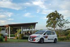 Honda Jazz on Location. Honda Jazz at MONTANA. FARM near Wang Nam Khiao, Nakhon Ratchasima, Thailand Royalty Free Stock Images