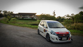 Honda Jazz on Location Stock Image