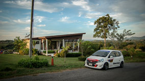 Honda Jazz on Location stock photos