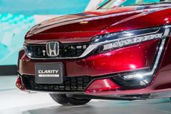 Honda klarhet Fuel Cell på Kuala Lumpur Motor Show royaltyfri fotografi