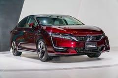 Honda klarhet Fuel Cell på Kuala Lumpur Motor Show fotografering för bildbyråer
