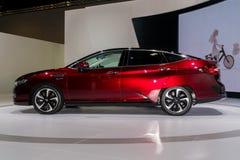 Honda klarowność Fuel Cell przy Kuala Lumpur Motorowym przedstawieniem obrazy royalty free