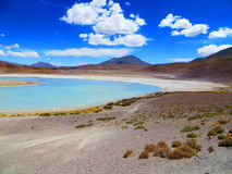 The Honda Lake, situated at Eduardo Avaroa National Reserve, Bolivia. Landscape of Honda Lake, located in Potosi Department, Bolivia stock images