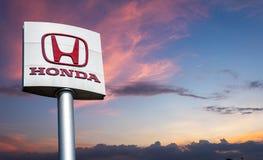 Honda logo, automotive technology is popular in Thailand, Huai Khwang, 25 November 2019