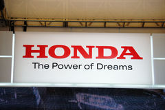 Honda Logo. On the 2013 Shanghai international auto show stock image