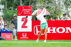 Honda LPGA Thailand 2014. CHONBURI - FEBRUARY 22: Azahara Munoz golfer from Spain in Honda LPGA Thailand 2014 at Siam Country Club, Pattaya Old Course on Royalty Free Stock Images