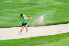 Honda LPGA Thailand 2016. CHONBURI - FEBRUARY 28 : Gerina Piller of USA in Honda LPGA Thailand 2016 at Siam Country Club, Pattaya Old Course on February 28, 2016 Royalty Free Stock Photo