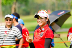 Honda LPGA Thailand 2014. CHONBURI - FEBRUARY 23: Pornanong Phatlum golfer from Thailand in Honda LPGA Thailand 2014 at Siam Country Club, Pattaya Old Course on Stock Image