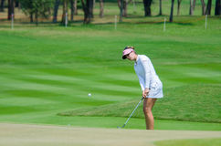 Honda LPGA Thailand 2016. CHONBURI - FEBRUARY 28 : Sandra Gal of USA in Honda LPGA Thailand 2016 at Siam Country Club, Pattaya Old Course on February 28, 2016 in Stock Photo