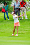 Honda LPGA Thailand 2015. CHONBURI - MARCH 1: Belen Mozo of Spain in Honda LPGA Thailand 2015 at Siam Country Club, Pattaya Old Course on March 1, 2015 in royalty free stock photography
