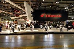 Honda motobike stojak 2016 Zdjęcie Royalty Free