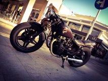 Honda motocykl W Limassol mieście, Cypr Obraz Royalty Free