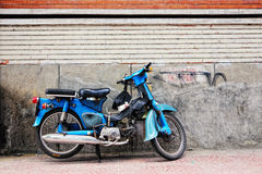 Honda motorbike parking on street in Saigon Royalty Free Stock Photo