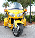 Honda Motorcycle. The Honda Yellow Trike Motorcycle stock photography