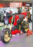 Honda Motorcycles on display. Royalty Free Stock Photos