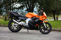 Free Honda NSR Super Sprint 125 Motorcycle Orange And Black Royalty Free Stock Photo - 91363665