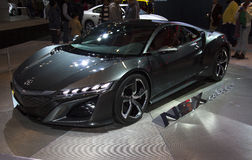Honda NSX Concept Car at NY Auto Show. The New York International Auto Show is an annual auto show held in New York City in late March or early April Royalty Free Stock Images