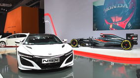 Honda NSX hybrid sports car and McLaren-Honda MP4-31 stock video