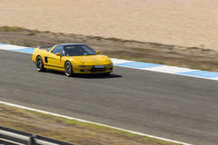 Honda NSX. In speed the Estoril circuit royalty free stock image