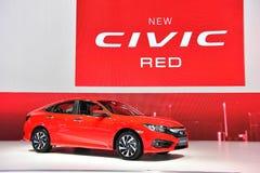 Honda nytt MEDBORGERLIGT RÖTT på expon för Thailand Internationalmotor Arkivbild