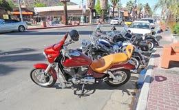 Honda och Harleys Arkivfoto