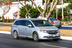 Honda Odyssey. CAMPECHE, MEXICO - MAY 20, 2017: Motor car Honda Odyssey in the city street stock photography