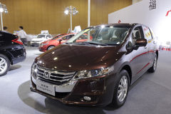 Honda odyssey. On display at convention and exhibition center in amoy city, china. 2014-5-18 stock photography