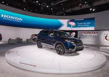 2019 Honda Passport. DETROIT, MI/USA - JANUARY 14, 2019: A 2019 Honda Passport SUV at the North American International Auto Show NAIAS stock image