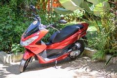 Honda PCX mopedsparkcykel röd 250cc 2015 Royaltyfria Bilder