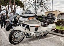 Honda que goldwing o cilindro 1500 6 Imagens de Stock Royalty Free