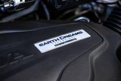 Honda Ridgeline truck engine in dealership royalty free stock image