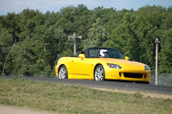 Honda S2000 On Race Course Royalty Free Stock Images
