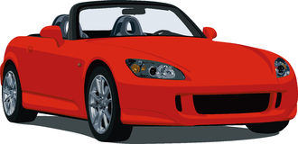 Honda S2000 Roadster. A Illustration of a S2000 sports car isolated on white. See my portfolio for more automotive images vector illustration