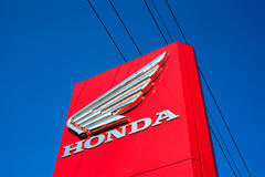 Honda. SENOV, CZECH REPUBLIC, JUNE 26, 2017: Honda - sign and logo of Japanese company, manufacturer and producer of motorbikes, motorcycles, cars and royalty free stock images