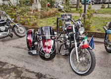Honda Shadow with sidecar Stock Images
