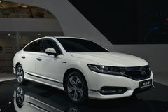 Honda Spirior sport hybrid saloon car. Guangzhou, China - November 19, 2016: Honda Spirior sport hybrid saloon car was exhibited in the 14th China Guangzhou Royalty Free Stock Photography