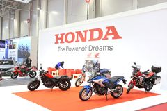 Honda stand at SIAB 2018, Romexpo, Bucharest, Romania. The international automobile saloon in Bucharest Royalty Free Stock Photography
