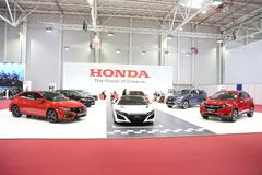Honda stand at SIAB 2018, Romexpo, Bucharest, Romania. The international automobile saloon in Bucharest Stock Images