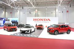 Honda stand at SIAB 2018, Romexpo, Bucharest, Romania. The international automobile saloon in Bucharest Stock Photography