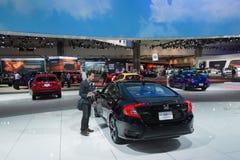 Honda stehen auf Anzeige Lizenzfreie Stockfotografie