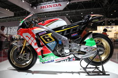 Honda tävlings- motorcykel Arkivbilder