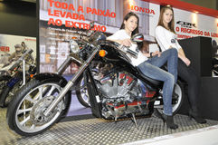Honda team. Batalha - February 6, 2011: Honda participating in the event of the Expomoto - Hall of bikes, accessories and equipment on February 6, 2011 in Royalty Free Stock Photo