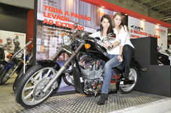 Honda team. Batalha - February 6, 2011: Honda participating in the event of the Expomoto - Hall of bikes, accessories and equipment on February 6, 2011 in Stock Photography