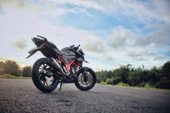 Honda todo o CB150R novo Streetfire fotografia de stock